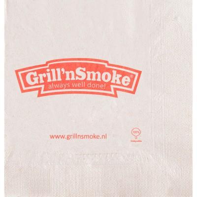 Serviettes en ouate recyclée 20x20 cm 2 plis personnalisées avec votre logo 1 couleur (dès 7 cartons)