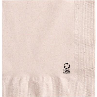 Serviettes en ouate recyclée 33x33 cm 2 plis personnalisées avec votre logo 1 couleur (dès 7 cartons)