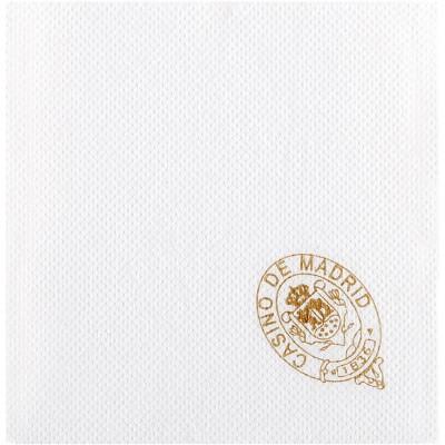 Serviettes en ouate micro-gaufrée 33x33 cm personnalisées avec votre logo 1 couleur (dès 7 cartons)
