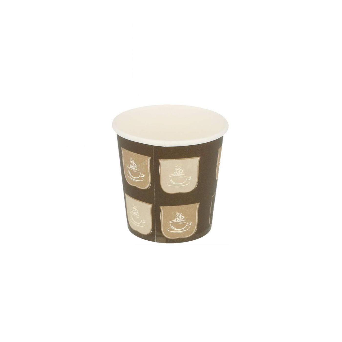 Gobelets en carton 1 paroi pour boissons chaudes 120 ml en paquet de 50