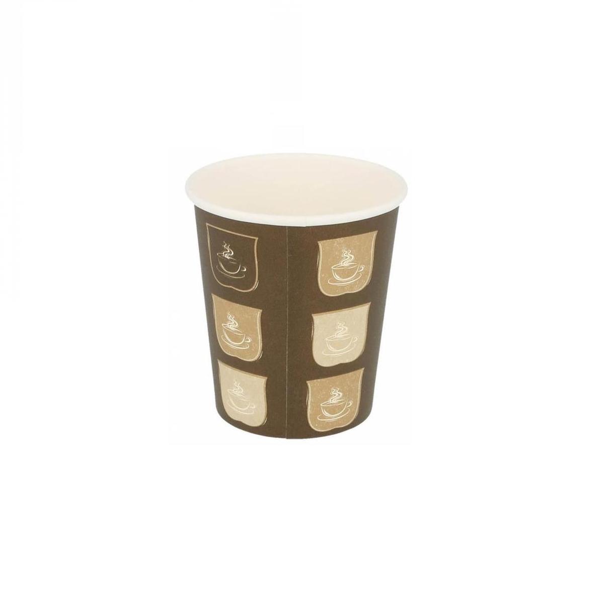 Gobelets en carton 1 paroi pour boissons chaudes 180 ml en paquet de 50