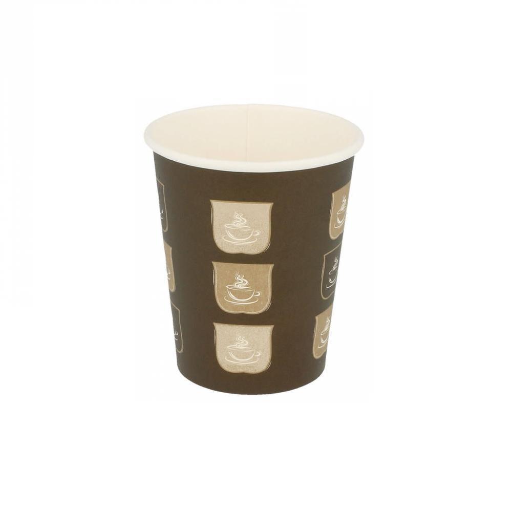 Gobelets en carton 1 paroi pour boissons chaudes 240 ml en paquet de 50