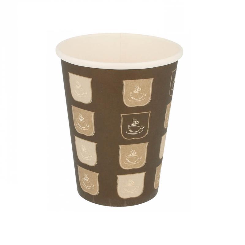 Gobelets en carton 1 paroi pour boissons chaudes 360 ml en paquet de 50