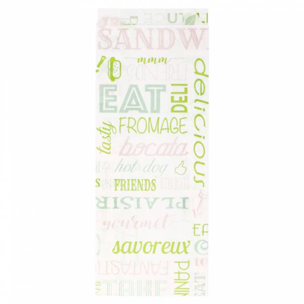 Sachets sandwiches en papier blanc 9+4x30 cm personnalisés avec votre logo 1 couleur (dès 4 cartons)