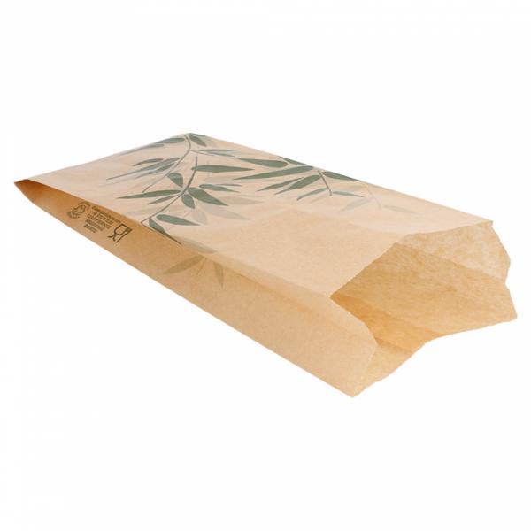 Sachets sandwiches en papier écru 9+4x22 cm personnalisés avec votre logo 2 couleurs (dès 8 cartons)
