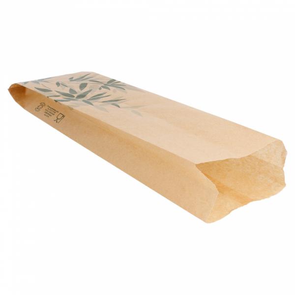 Sachets sandwiches en papier écru 9+4x30 cm personnalisés avec votre logo 2 couleurs (dès 8 cartons)