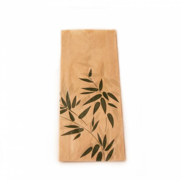 Sachets sandwiches en papier écru 12+4x26 cm personnalisés avec votre logo 2 couleurs (dès 8 cartons)