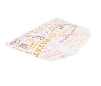 Sachets pour frites en papier blanc 12x9 cm personnalisés avec votre logo 2 couleurs (dès 4 cartons)