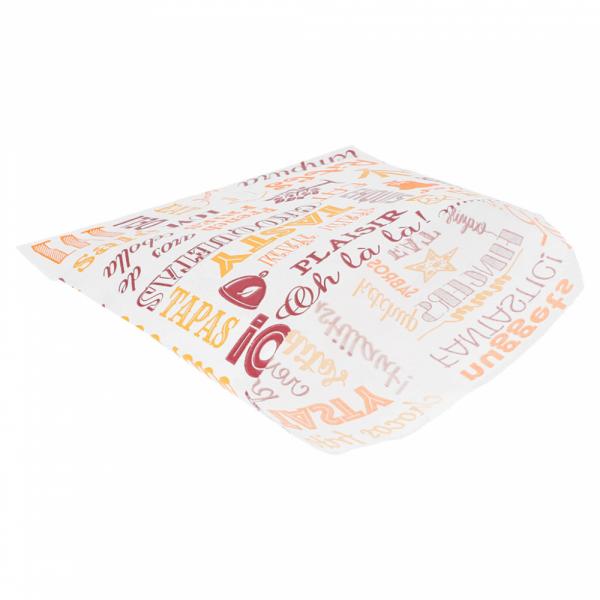 Sachets pour frites en papier blanc 12x12 cm personnalisés avec votre logo 2 couleurs (dès 4 cartons)