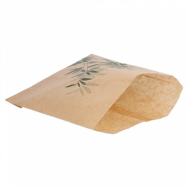 Sachets pour frites en papier écru 12x12 cm personnalisés avec votre logo 1 couleur (dès 3 cartons)