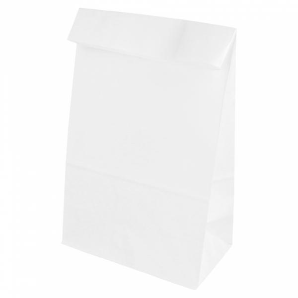 Sacs SOS en papier blanc 14+8x24 cm personnalisés avec votre logo 1 couleur (dès 25 cartons)