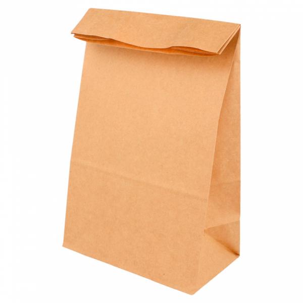 Sacs SOS en papier écru 14+8x24 cm personnalisés avec votre logo 1 couleur (dès 25 cartons)