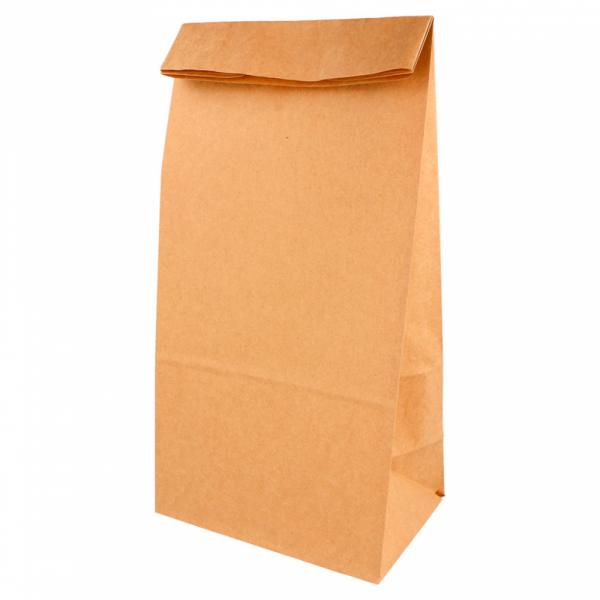 Sacs SOS en papier écru 15+10x32 cm personnalisés avec votre logo 1 couleur (dès 25 cartons)