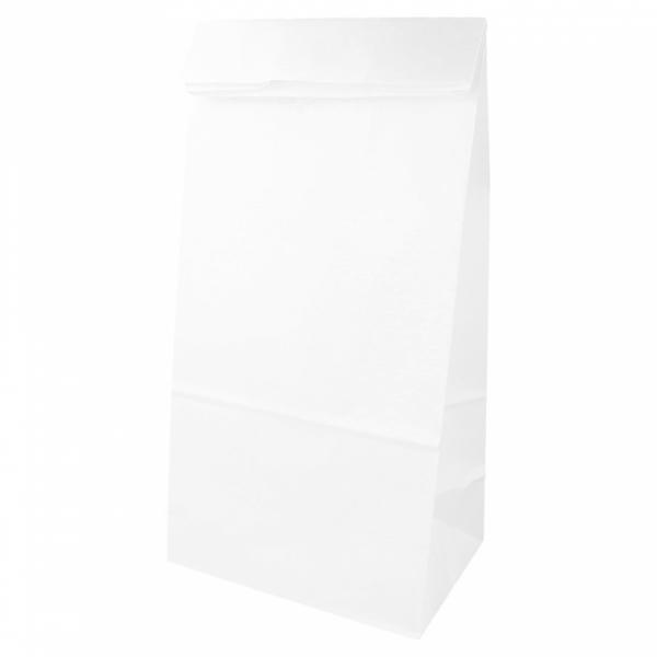 Sacs SOS en papier blanc 20+9x34.5 cm personnalisés avec votre logo 1 couleur (dès 25 cartons)