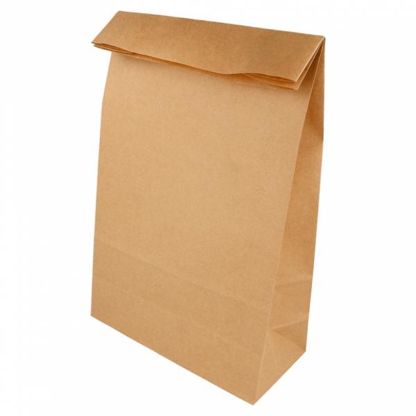 Sacs SOS en papier écru 20+9x34.5 cm personnalisés avec votre logo 1 couleur (dès 25 cartons)
