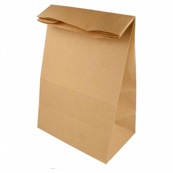 Sacs SOS en papier écru 22+14x37 cm personnalisés avec votre logo 1 couleur (dès 25 cartons)