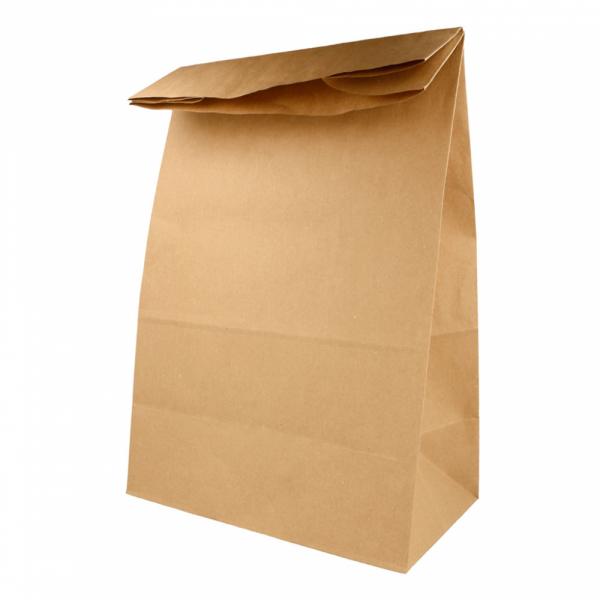 Sacs SOS en papier écru 25+15x43.5 cm personnalisés avec votre logo 2 couleurs (dès 25 cartons)
