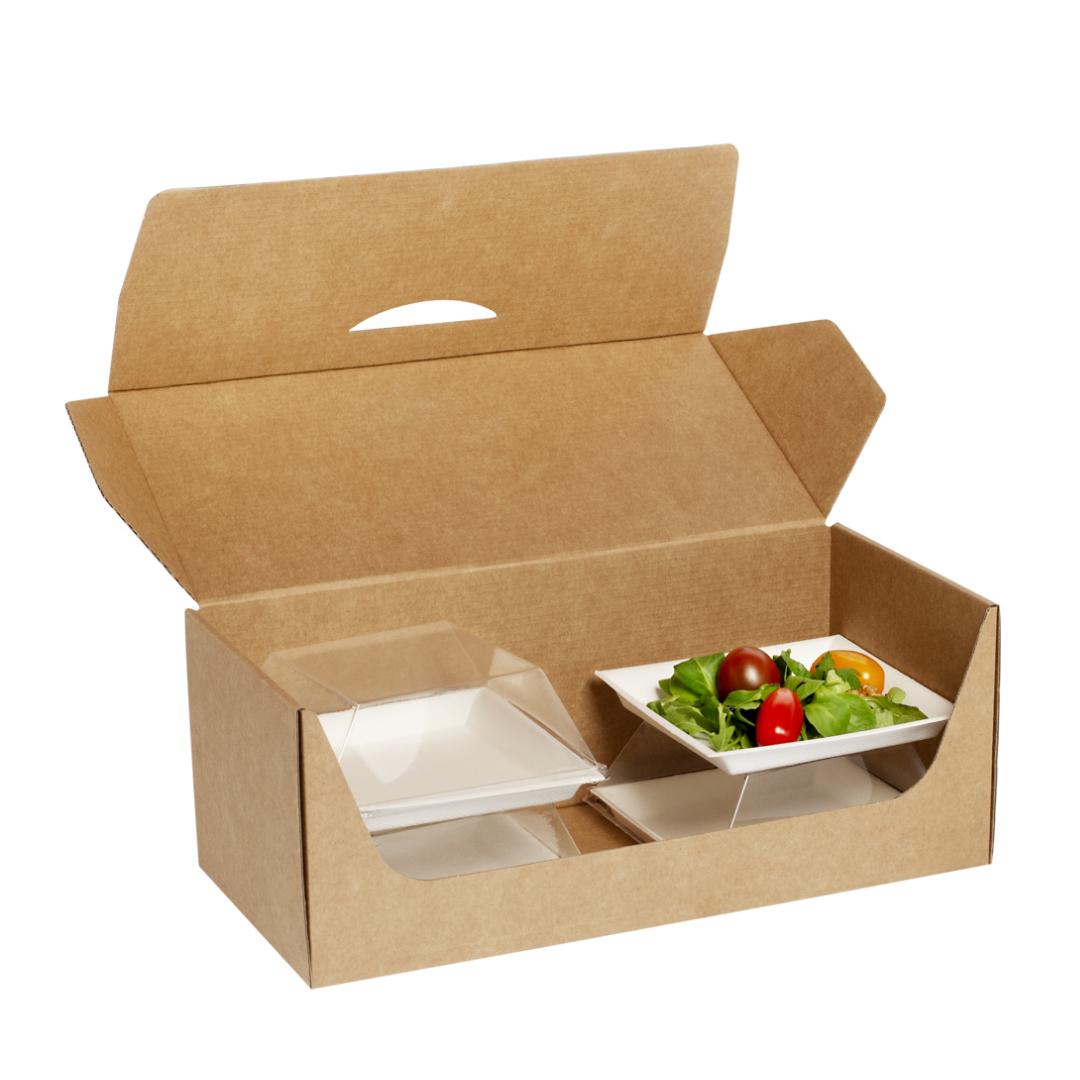Plateau-repas écoresponsable 330x155 mm personnalisable dès 100 pièces (kit B)