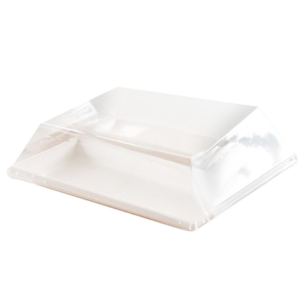 Couvercles recyclables pour assiettes en pulpe de canne à sucre 180x180x15 mm en paquet de 50
