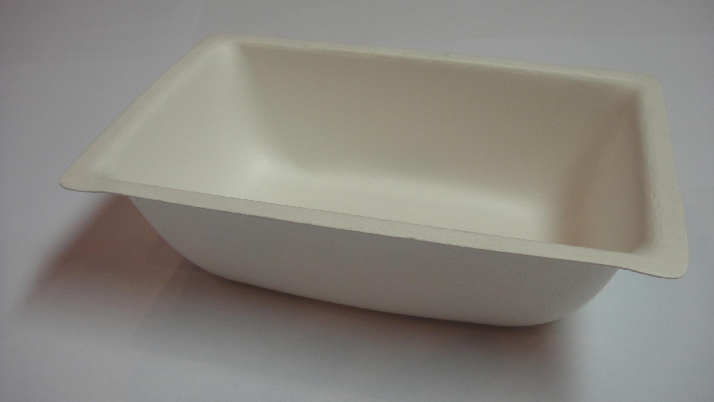 Barquette biodégradable 350 ml en pulpe de canne à sucre 9.5x14.5x4 cm vendue par 50