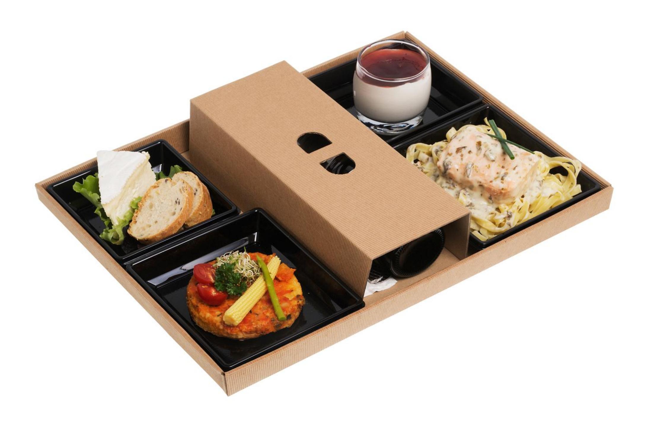 Plateaux-repas écoresponsables 300x400 mm vendus en kit complet de 400 pièces (compo 119)