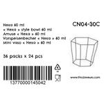 Verrine en plastique hexa 60 ml CN04-30C-5