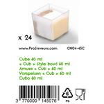 Verrine en plastique Cube 60 ml CN04-45C-3