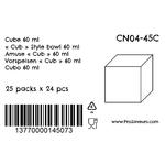 Verrine en plastique Cube 60 ml CN04-45C-4