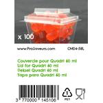 Couvercle thermoformé en PET pour Quadri 60 ml CN04-58L-3