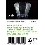 Verrine en plastique Hexa Fleur 70 ml CN04-3C-3