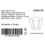Verrine en plastique Hexa Fleur 70 ml CN04-3C-4