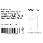 Verrine en plastique Tubo 70 ml CN04-46C-4
