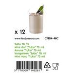 Verrine en plastique Tubo 70 ml CN04-46C-3