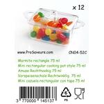 Verrine en plastique Marmite rectangle 75 ml CN04-52C-3