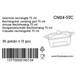 Verrine en plastique Marmite rectangle 75 ml CN04-52C-4