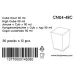 Verrine en plastique Cube Haut 110 ml CN04-48C-5