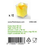 Verrine en plastique Cube Haut 110 ml CN04-48C-4