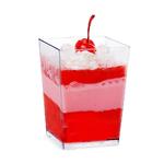 Verrine en plastique Cube Haut 110 ml CN04-48C-1