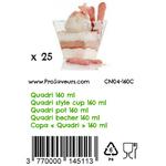 Verrine en plastique Quadri 160 ml CN04-160C-3