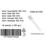 Mini fourchette en plastique par 250 CN04-4C250-4