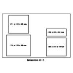 Plateaux-repas Dallas 300x400x65 mm complets et personnalisés vendus par kit de 400 (modèle 117) CN07-117-5