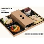 Plateaux-repas Dallas 300x400x65 mm complets et personnalisés vendus par kit de 400 (modèle 120) CN07-120-1
