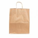 Sac en papier écru avec poignées ficelles 26+14x32 cm personnalisé 1 couleur CN08-10920P1C-2