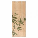 Sachets sandwiches en papier écru 9+4x22 cm personnalisés 2 couleurs CN08-14702P2C-2