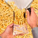 Sachets pour frites en papier blanc 12x9 cm personnalisés 1 couleur CN08-22928P1C-4