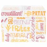 Sachets pour frites en papier blanc 12x9 cm personnalisés 1 couleur CN08-22928P1C-2