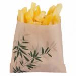 Sachets pour frites en papier écru 12x12 cm personnalisés 1 couleur CN08-143046P1C-2