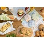 Feuilles en papier écru 28x34 cm pour burger personnalisées 1 couleur CN08-21753P1C-3