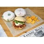 Feuilles en papier écru 28x34 cm pour burger personnalisées 1 couleur CN08-21753P1C-4