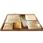 Plateau-repas 300x400 et ses assiettes biodégradables en pulpe de canne